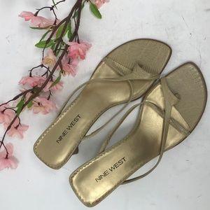Vintage Strappy Nine West Toe Strap Sandals Heels
